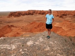 Flaming Cliffs in the Gobi.